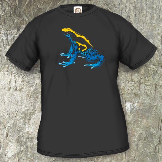 Frogs/Toads Model 1, Dendrobates tinctorius tinctorius, black T-shirt