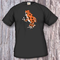 Frogs/Toads Model 2, Oophaga pumilio, black T-shirt